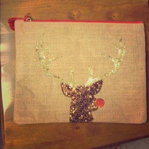 Mudpie Rudolph/Christmas travel bag!